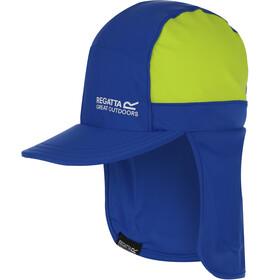 Regatta Protect Cap Kids nautical blue/electric lime